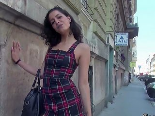 German Scout 19yr Old Teen Anaidha Star Seduce To Fuck At Real Public Street Casting