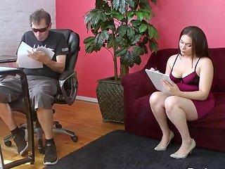 Chubby Wife Scarlett Sucks Husband's Dong