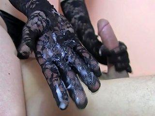 Hungarian Slurping Wet Handjob Cum Cumpilation Goddess Sylvia Chrystall