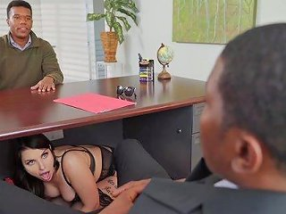Bombshell Ivy Lebelle Ramming A Friend's Hard Dick On The Couch
