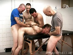Gay BDSM hardcore group fucking videos and pics from Straight Hell