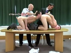 Two men get abused and humiliated by two perverted tops