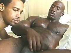 Brown man enjoys his buddy's monster cock