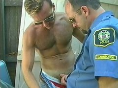 As soon as he took this guy's pants off, this policeman desperately wanted to be in his ass