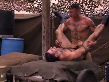 After a rough day of training and screaming at hopelessly inept recruits, Sergeants Ricky Sinz and Roman Ragazzi team up for a good game of hide the d