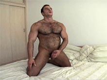 Hairy muscle gay bear Ted Colunga movie
