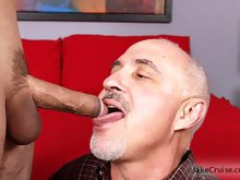 Mature daddy Jake pleases a young stud  Mike in different ways