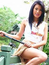 free asian gallery Ning Strips On Fishing Trip
