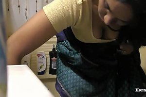 South Indian Maid Cleaning And Showering Hidden Camera