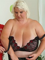 His hot BBW whore strips naked from her slutty dress and lets him pound her pussy