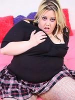 Blonde BBW getting her muff cock stuffed