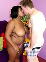 Mega busty black babe known in the plumper world gets the fuck of a lifetime to make sure she doesn�t forget