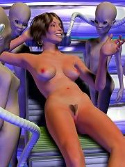Hentai Alien screws nymph Toon mistress