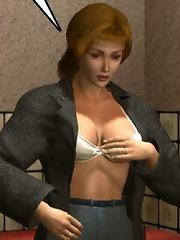 Bitch with tough strapon fucked by Sugoroku Mutou