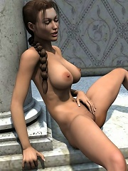 Pervert 3D Whore shares cum and bursts orgasm