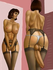Sexy schoolgirls as toon shemales
