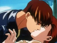 Two sexy anime studs getting it on in the park