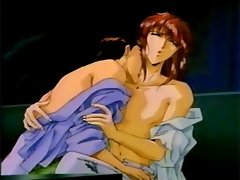 Anime homosexuals in club get naked and make love