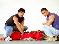Parachute packing jocks fuck each other during class before unloading their balls on each other