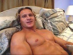 Awesome blonde stud Anthony Hardwood jerking off and cumming