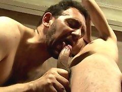 Older guy satisfies his desire for big young dick