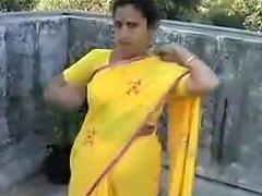 Bhabhi Caught On Roof