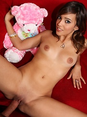 Teen cutie working on the cock and loving every inch