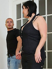 The arousing, sexy fat girl meets the guy at the hot dog stand and is soon impaled on his dick