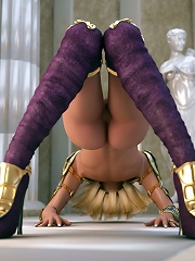 Strict 3D Princess is drilled