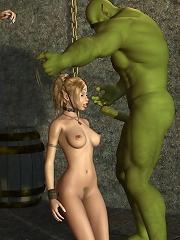 3D Boss feels 3D Elfs penis...