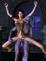 Awesome 3D Evil Priestess...
