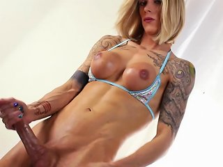 Nina Lawless Muscle Shemale Solo Video