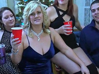Three Amateurs Milfs Sharing Two Cocks In Swinger Orgy