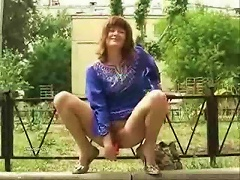 Using Sex Toys In A  Park
