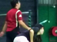 Chinese Young Teen At A Badminton Court Non Nude