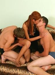 Cute Teen Redhead In 3 Some Teen Porn Pix