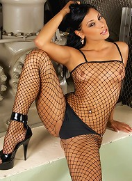 Hot Brunette With A See Through Body Stocking Teen Porn Pix