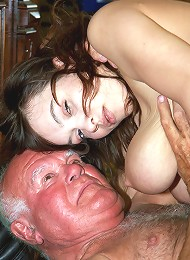 Old Pervert Is Enjoying Big Tits Teen Porn Pix