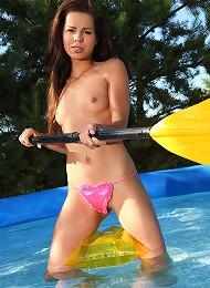 Hot Teen Kiki Fooling Around In Her Outdoor Swimming Pool Teen Porn Pix