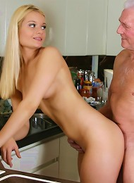 Blonde Beauty Adores An Old Male Teen Porn Pix