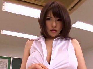 TXxx Video - Busty Teacher Anri Okita Gets Fucked At School