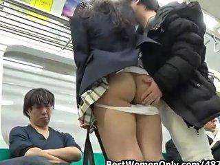 SpankWire Video - Japanese Subway Gangbang With Student Girl