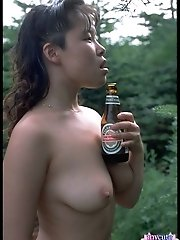 Amateur asian shows her tight pussy here