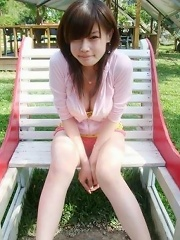 Selfmade photos of Busty and Gorgeous Asian girlfriend at home