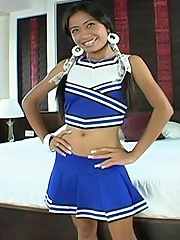 This cheerleader is hot and ready for cum