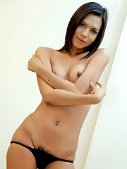 Super cute ladyboy strips and wanks off