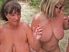 XHamster Video - Granny Kims Beach Cum Party