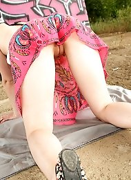 Horny nude teenager