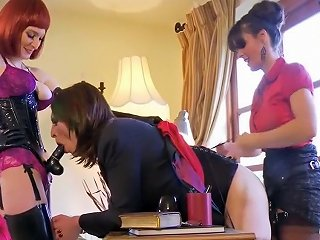 Amazing Homemade Shemale Movie With Femdom Strapon Scenes