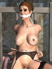 Kinky 3D Secretary getting banged by Master